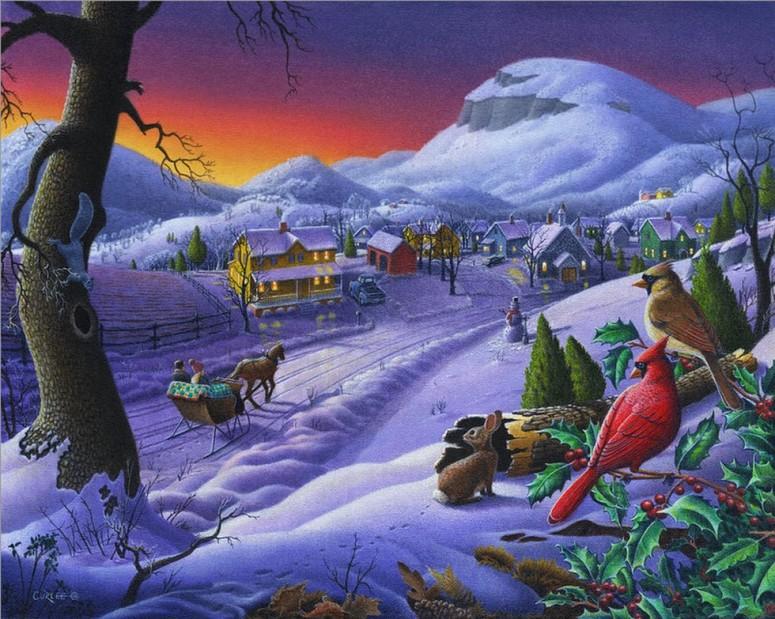 fannie flagg a redbird christmas 2005 walt curlee_christmas sleigh ride
