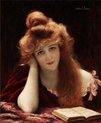 Gabriel Ferrier (1847-1914) Woman Reading