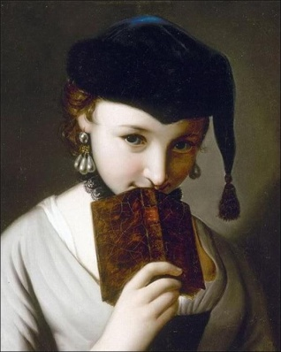 Pietro Rotaru (1707-1762) Girl with a Book
