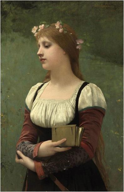 Jules Joseph Lefebvre. A pensive moment (1886)