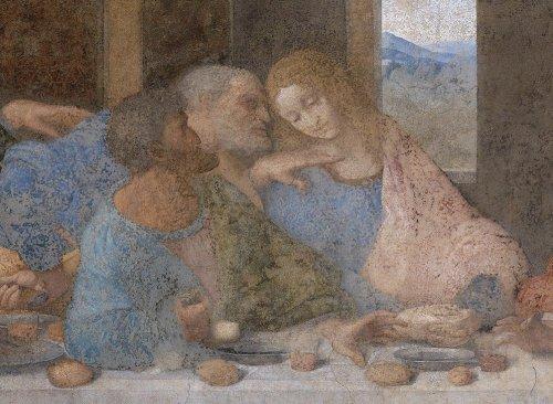 Leonardo da Vinči. Svētais vakarēdiens (1498) (fragments)