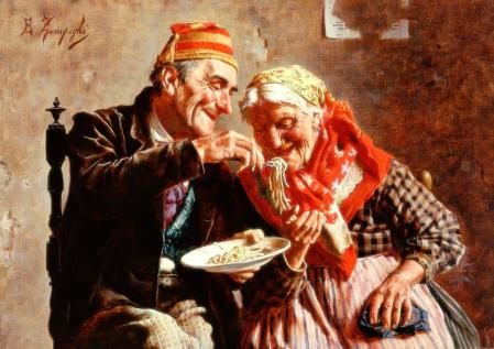 Eugenio Zampighi (1859-1944). Sharing their pleasure
