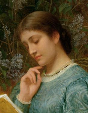 Ch. E. Perugini. Girl Reading (1870)