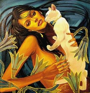 Galla Abdel Fatah (1970) Girl in Lotus