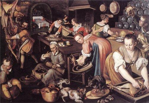 Vincenzo Campi. Kitchen (1580)