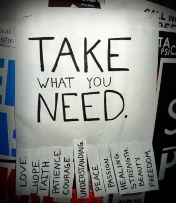 Take whatt you need