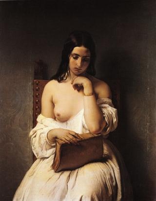 Francesco Hayez. Meditation (1850)