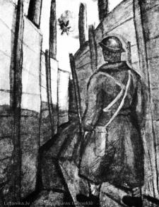 """Jāzeps Grosvalds (1891-1920) Darbs no cikla """"Latviešu strēlnieki"""""""
