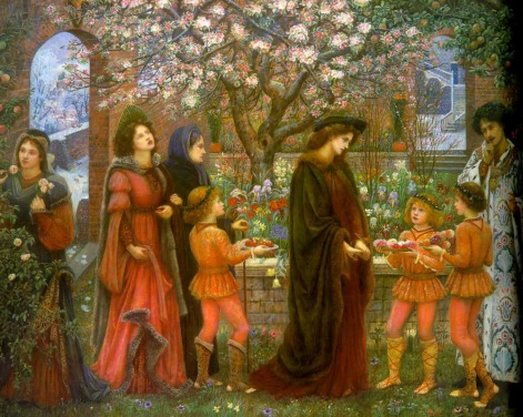 The_Enchanted_Garden_of_Messer_Ansaldo_by_Marie_Spartali_Stillman_(1889)