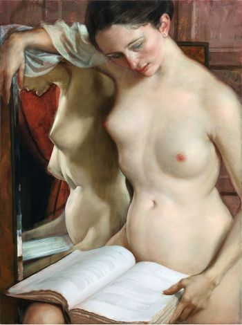 John Currin (1962) The Reader (2010)