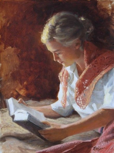 Richard Boyer. Girl Reading