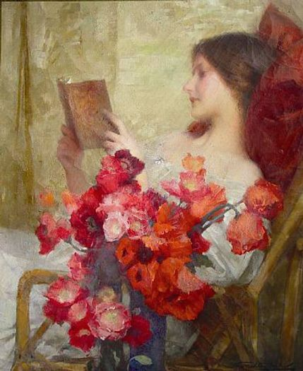 Samuel Melton Fisher (1860-1939) Reading Woman
