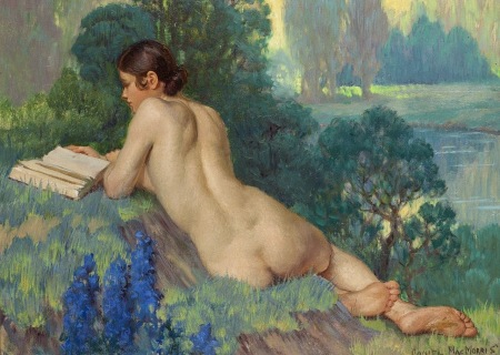 Daniel MacMorris (1893-1982) Nude reading (1933)