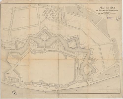 Plan von Riga (1864; Hennings&Weir)