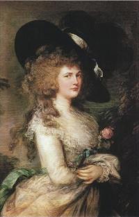 Thomas Gainsborough. Portrait of Georgiana, Duchess of Devonshire (1787)