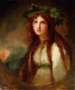 George Romney. Portrait of Emma, Lady Hamilton as a Bacchante