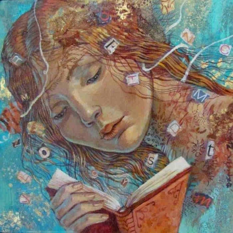 Zekina, Daniela (1960-...) Woman reading
